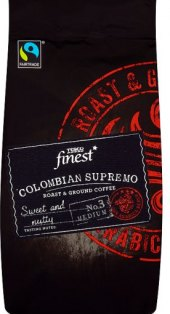 Mletá káva Colombian Supremo Tesco Finest
